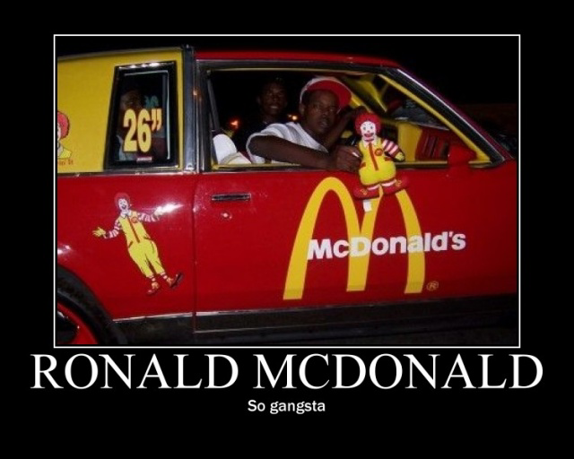 mcdonald gangster - meme