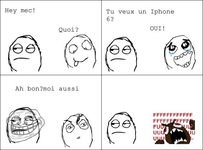 Troll level. Iphone - meme