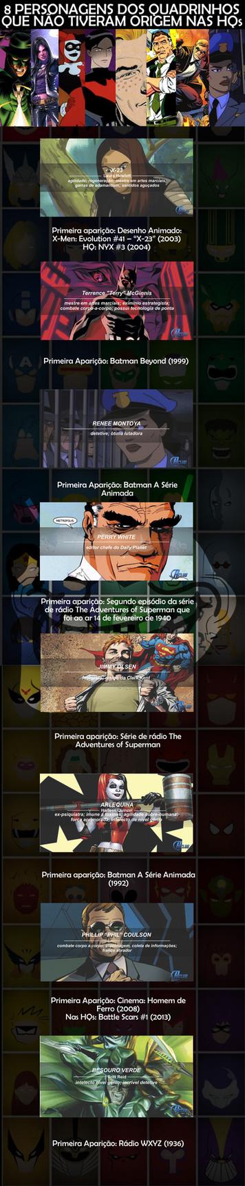 8 personagens de quadrinhos que não tiveram origem nas HQs - meme