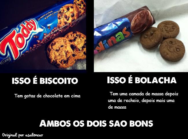 Biscoito ou Bolacha? - meme