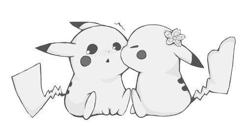 pikachu encontró el amor  - meme