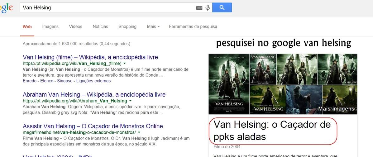 pesquise no google pc Van Helsing - meme