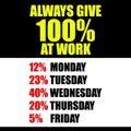 allways give 100%