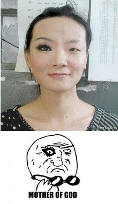 Con y sin maquillaje O: - meme