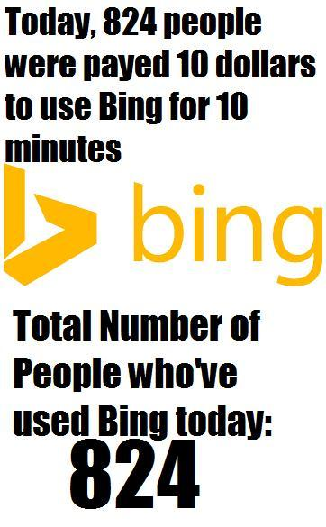 In Soviet Russia, You don't Pay Bing. Bing Pays You. - meme