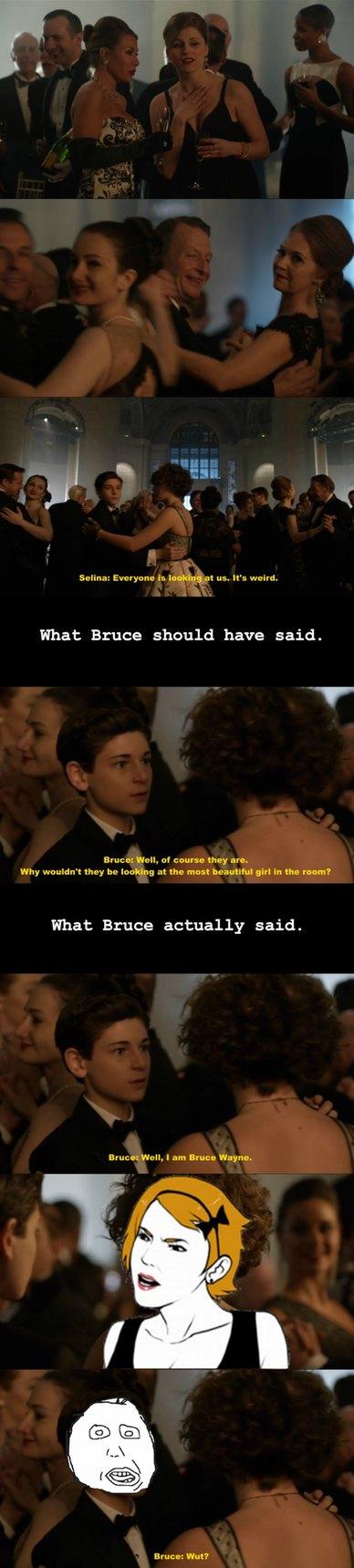 Seriously Bruce. Seriously? (Gotham Season 1 Episode 20) - meme