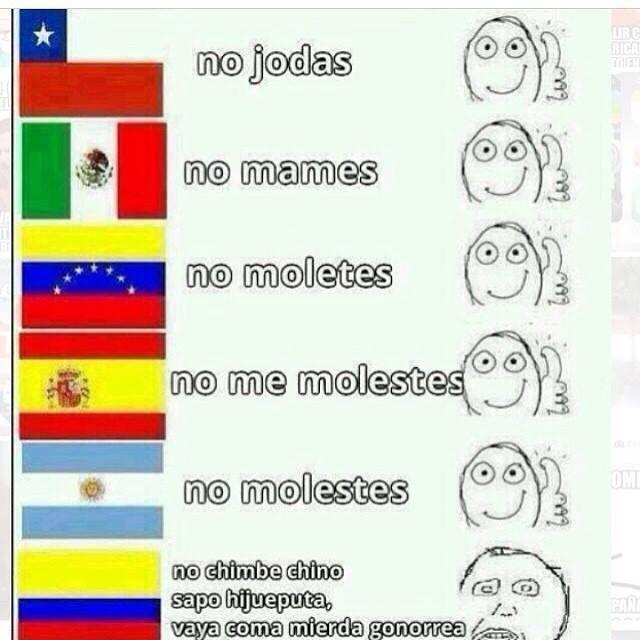 Nadie se tarda mas para insultarte que los colombianos  - meme