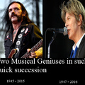 R.I.P Lemmy Killmister, R.I.P David Bowie