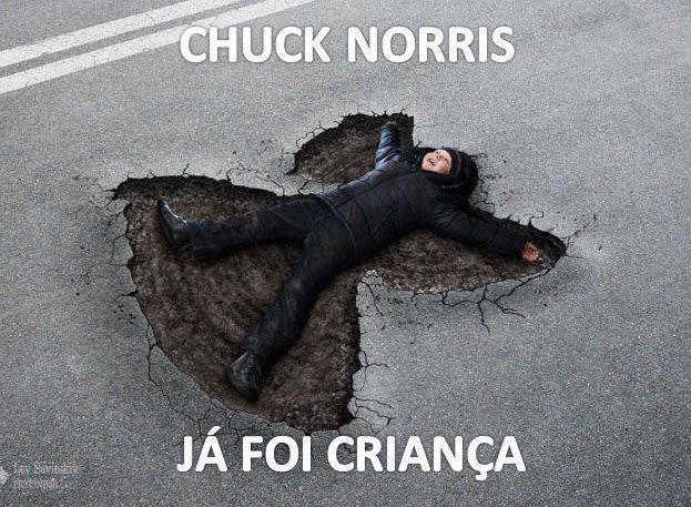 Chuck Norris na infância - meme