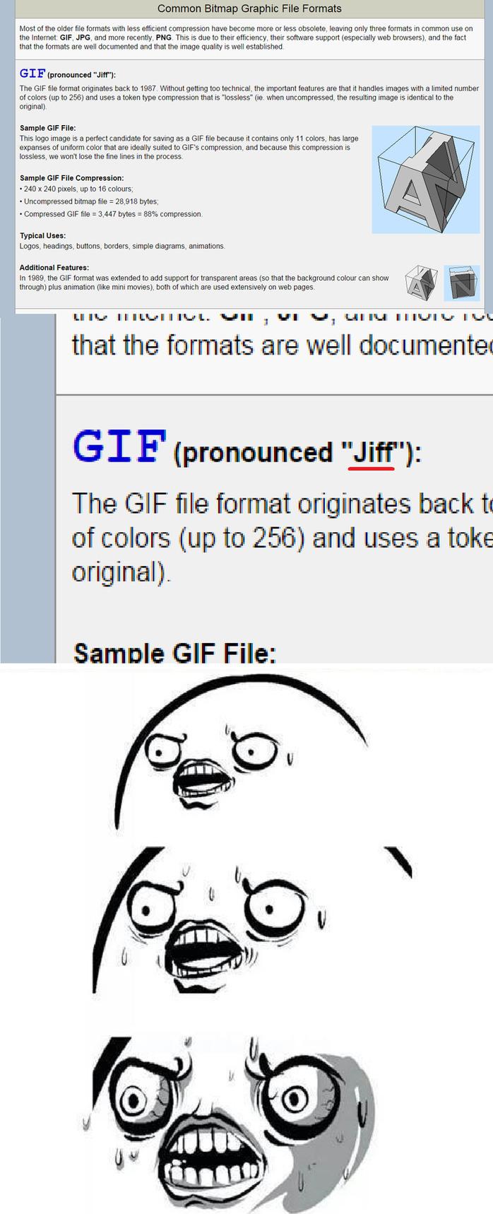 It's prounounced GIF. Hard G. - meme