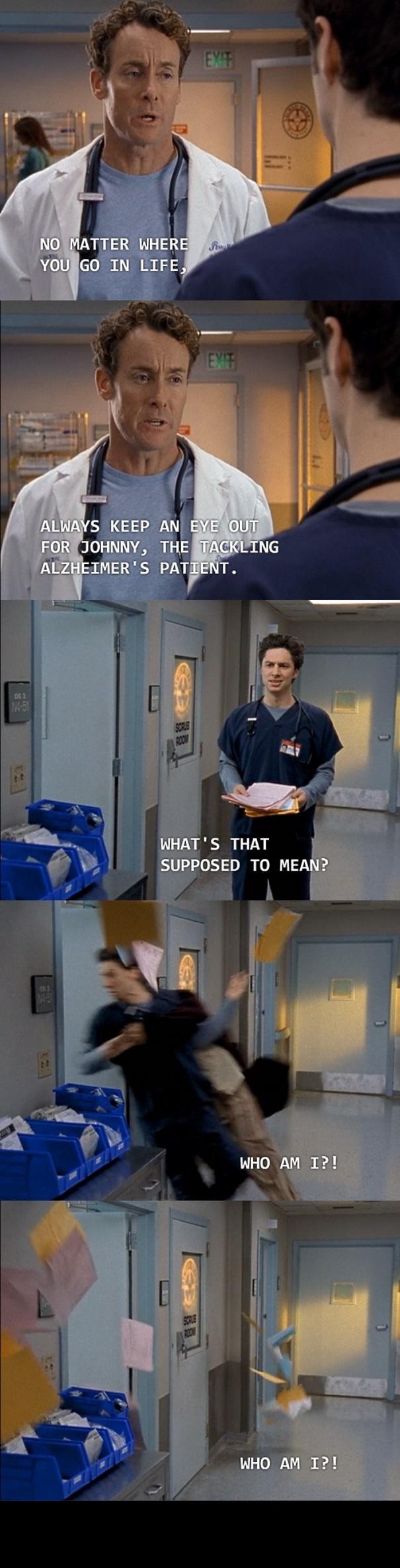Scrubs Season 2: Episode 15 His Story. You're welcome. - meme