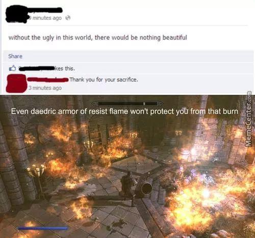 BURN. - meme