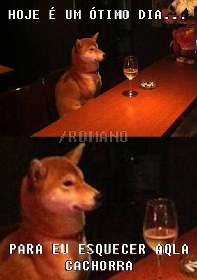 Porque cachorro não chora... - meme