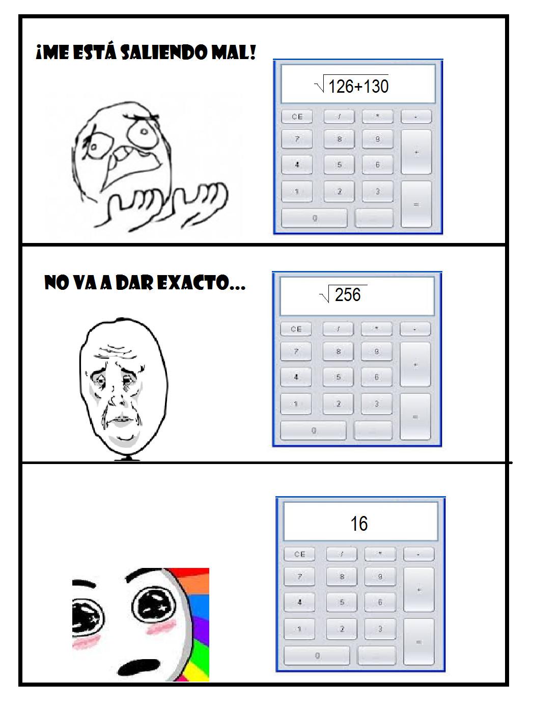 Momentos épicos de las matemáticas. - meme
