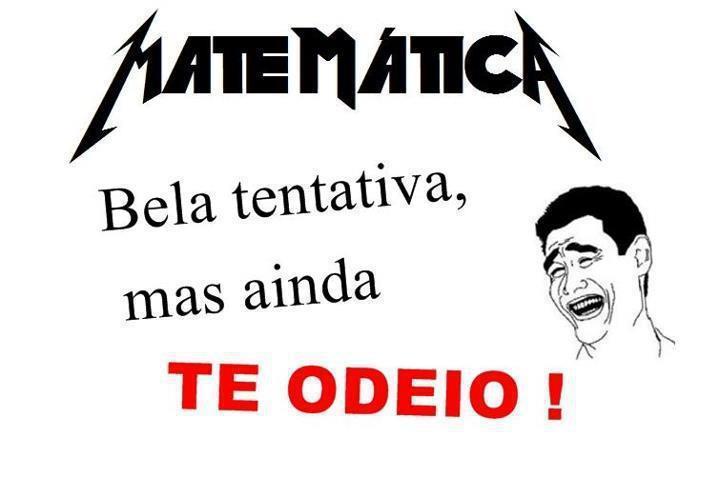 Matematica n é de Deus - meme