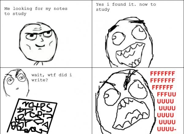 Bad handwriting problems - meme