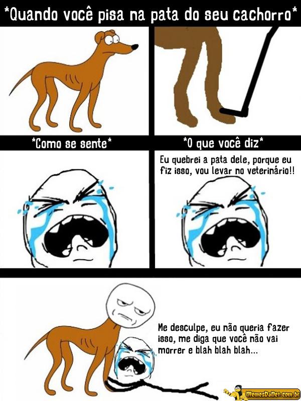 o cão e sua pata - meme