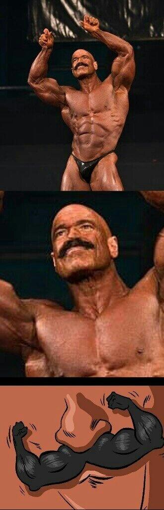Moustache  musculaire - meme