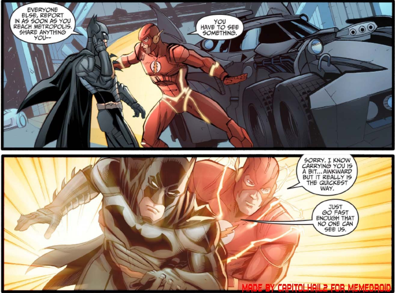 Justice League Gods Among us - meme