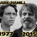 Mark Hamill 1977 and 2015