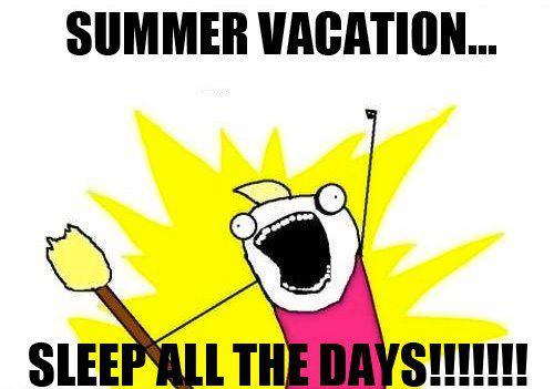 Summer vacation - meme