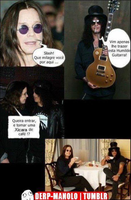 slash e Ozzy - meme