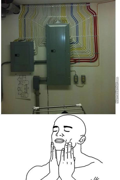 perfect wiring!! dem feels - meme