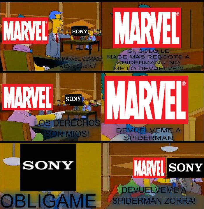 Todos queremos que Sony le devuelva a spiderman - meme