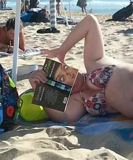 Perfect day to read at the beach.. - meme