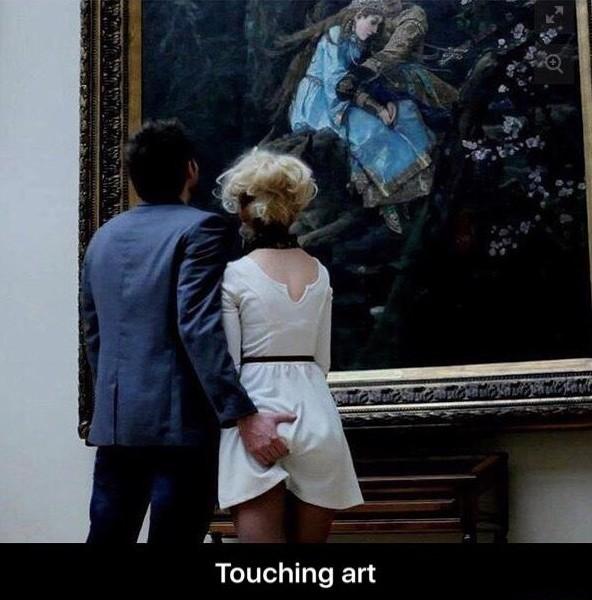Touching Art - meme