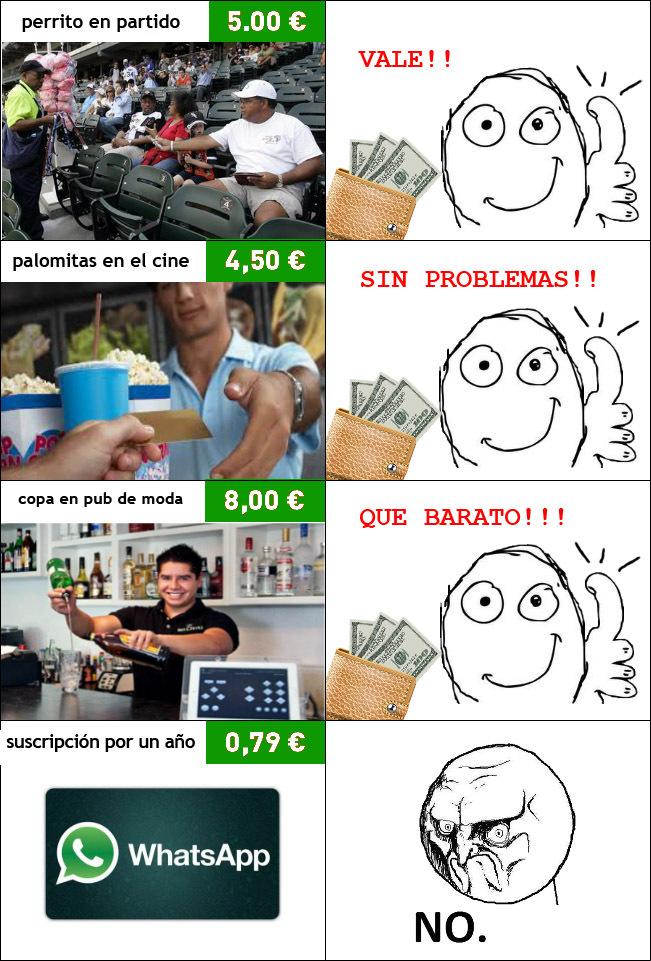 Nadie quiere pagar Whatsapp!!! - meme