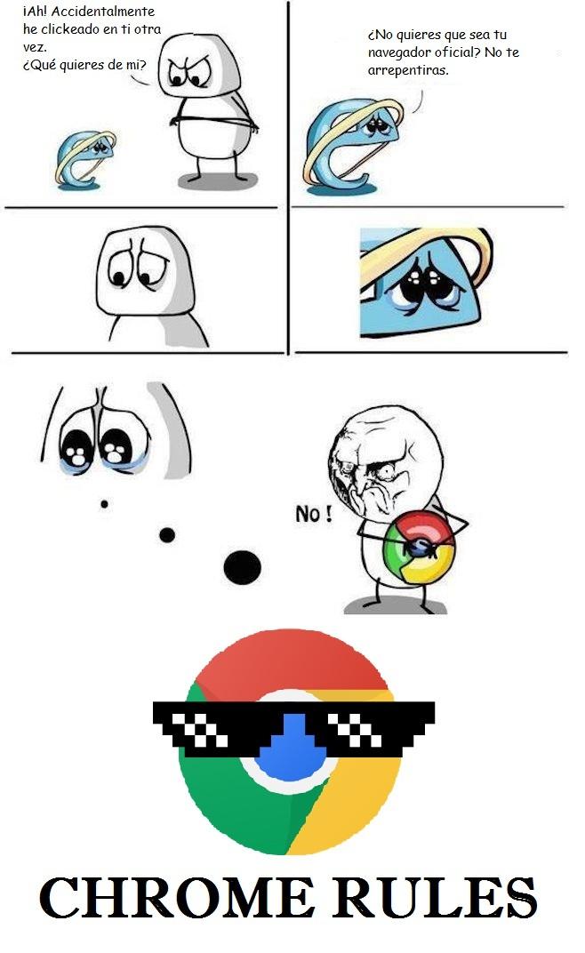 Chrome Rules - meme
