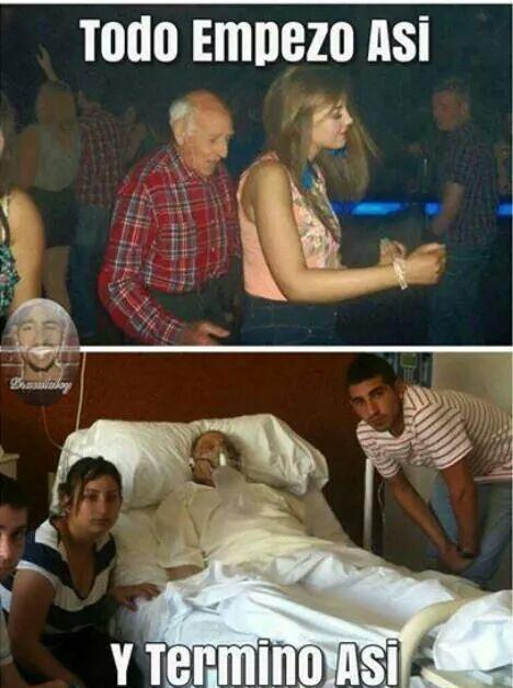 pobre abuelo - meme