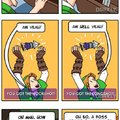 Before and after zelda games