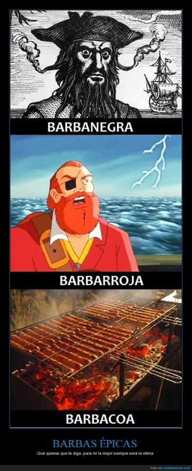 La mejor barba no siempre es pirata :3 - meme