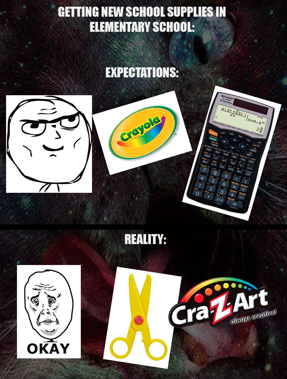 when you cant afford crayola - meme