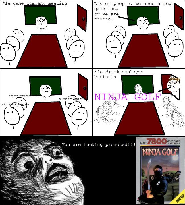 Ninja golf for atari 7200 - meme