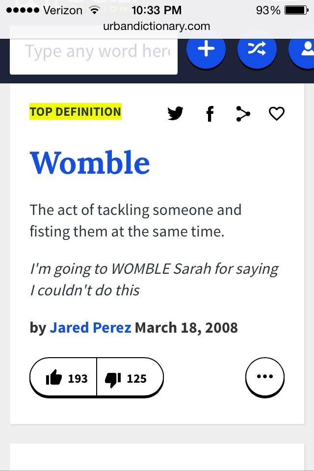 Oh womble - meme