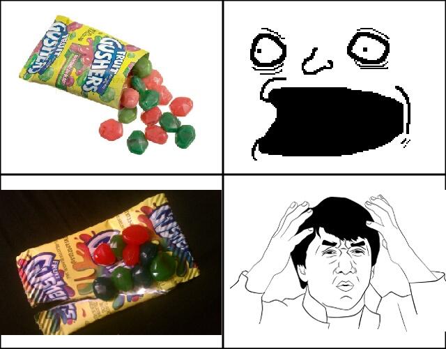 Goddamn fruit gushers! - meme