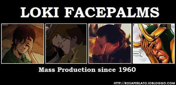 The many facepalms of Loki - meme
