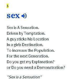Sex is a Sensation - meme