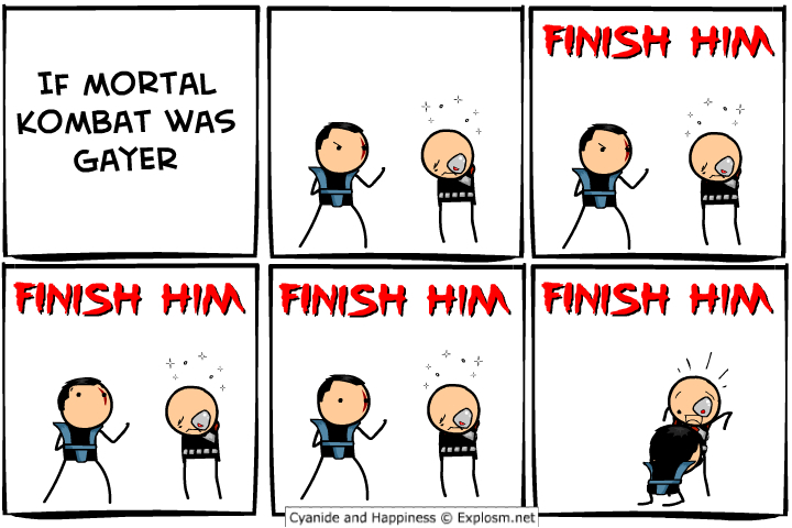 Finish him! - meme