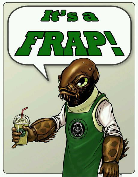 May the froth be with you - meme