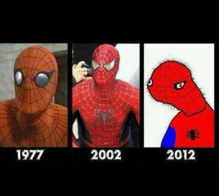 носим мем с человеком пауком нарисованным синтетики подойдет