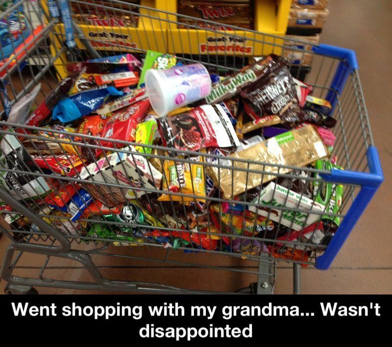 Grandma's always have to make their grandchildren gain weight... Right? - meme