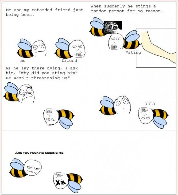 YOLO bee - meme