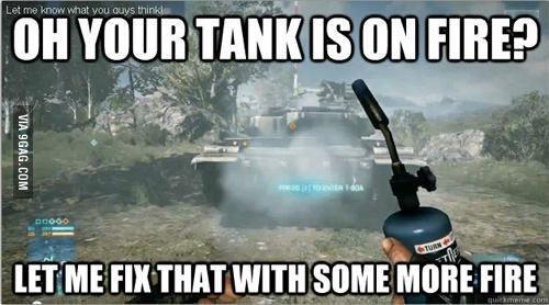Battlefield is NOT a realism game - meme
