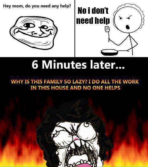 Mom's logic - meme