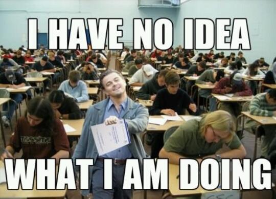 every test i turn in - meme