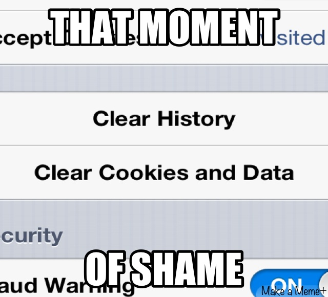 That Moment of Shame - meme